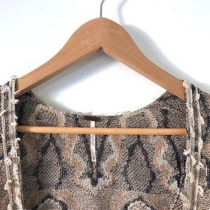 Free People Sweaters - Free People | Patterned Boho Poncho Cardigan